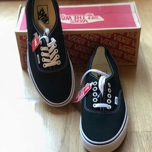 Vans Authentic Black/white shoes men 9/ women 10.5